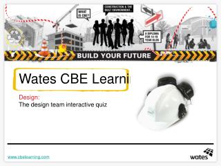 Wates CBE Learning