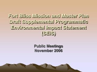 Public Meetings November 2006
