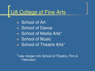 UA College of Fine Arts
