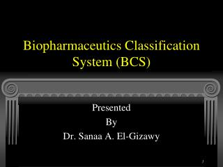 Biopharmaceutics Classification System (BCS)