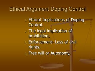 Ethical Argument Doping Control