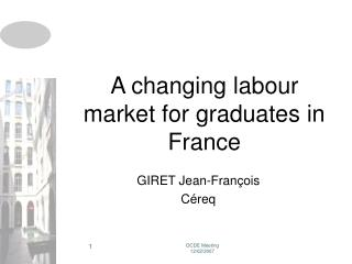 A changing labour market for graduates in France
