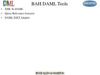 BAH DAML Tools