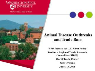 Animal Disease Outbreaks and Trade Bans