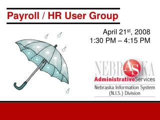 Payroll / HR User Group