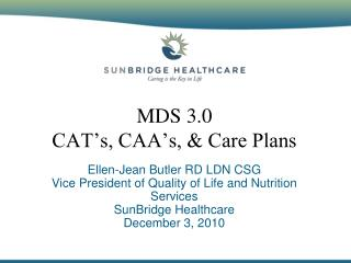 MDS 3.0 CAT's, CAA's, & Care Plans
