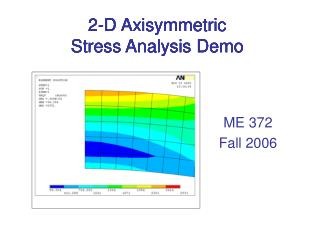 2-D Axisymmetric  Stress Analysis Demo