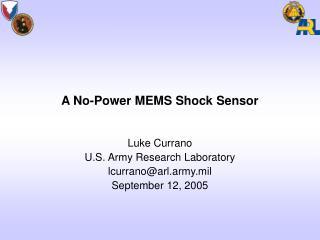 A No-Power MEMS Shock Sensor