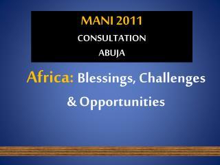 MANI 2011 CONSULTATION ABUJA
