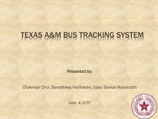 Texas A&M Bus Tracking System