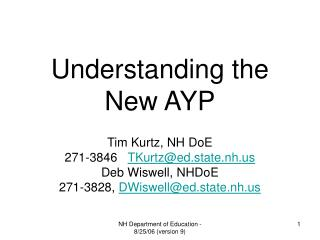 Understanding the New AYP