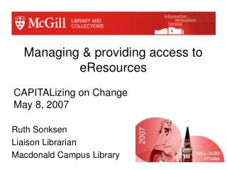 Managing & providing access to eResources