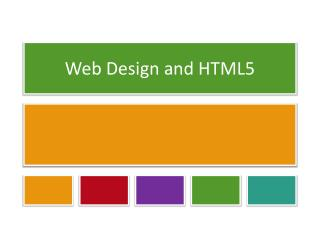 Web Design and HTML5