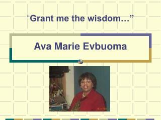 Ava Marie Evbuoma