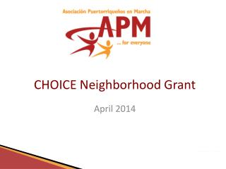 CHOICE Neighborhood Grant