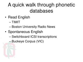 A quick walk through phonetic databases