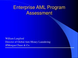 Enterprise AML Program Assessment