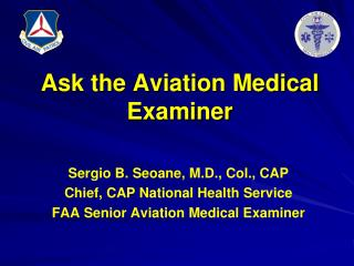 Ask the Aviation Medical Examiner
