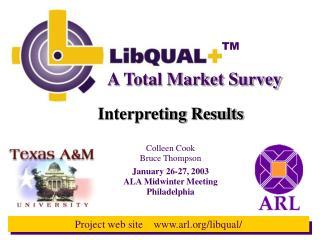 A Total Market Survey