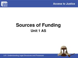 Sources of Funding  Unit 1 AS