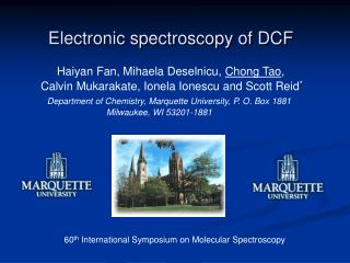 Electronic spectroscopy of DCF