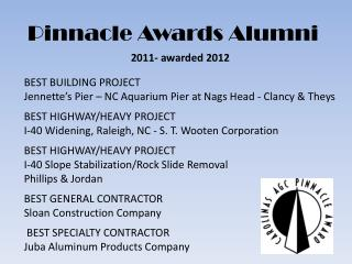 Pinnacle Awards Alumni
