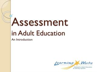 Assessment in Adult Education