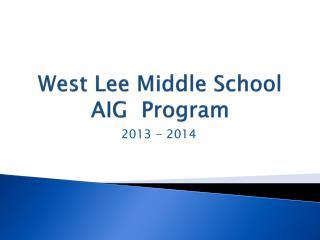 West Lee Middle School AIG  Program