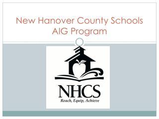 New Hanover County Schools AIG Program