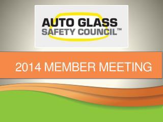 2014 Member meeting