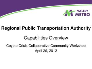Regional Public Transportation Authority