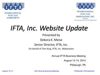 IFTA, Inc. Website Update
