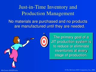 Just-in-Time Inventory and Production Management
