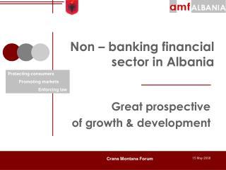 Non – banking financial sector in Albania