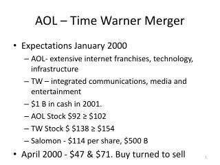 AOL – Time Warner Merger