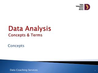 Data  Analysis  Concepts & Terms