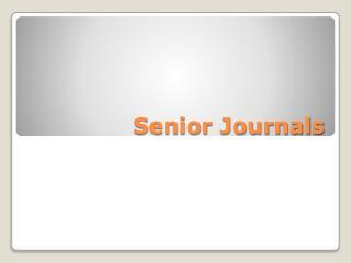 Senior Journals