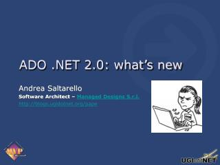 ADO .NET 2.0: what's new