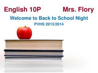 English 10PMrs. Flory