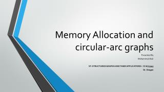 Memory Allocation and circular-arc graphs