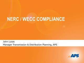 NERC / WECC COMPLIANCE