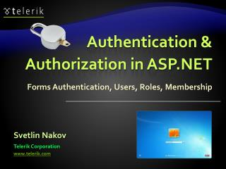 Authentication &  Authorization in ASP.NET