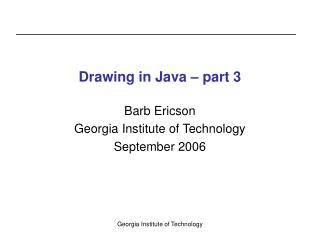 Drawing in Java – part 3