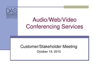 Audio/Web/Video Conferencing Services