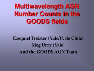 Multiwavelength AGN Number Counts in the GOODS fields