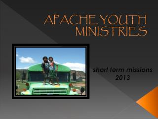 APACHE YOUTH MINISTRIES