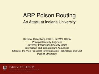 ARP Poison Routing