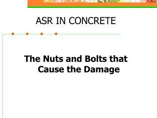 ASR IN CONCRETE