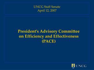 UNCG Staff Senate April 12, 2007