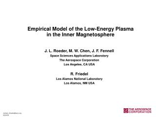 Empirical Model of the Low-Energy Plasma in the Inner Magnetosphere